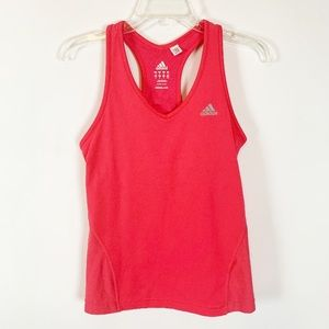 The Item for Sale is a Neon Pink Adidas Tank Top